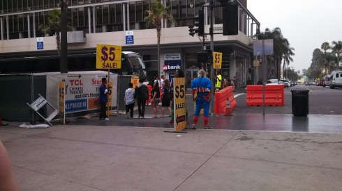 Bums in costumes on Hollywood Blvd