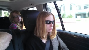 Nora and Molly on a Road trip to LA