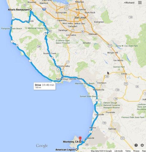 Ride route