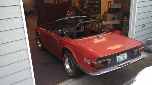Triumph from the rear