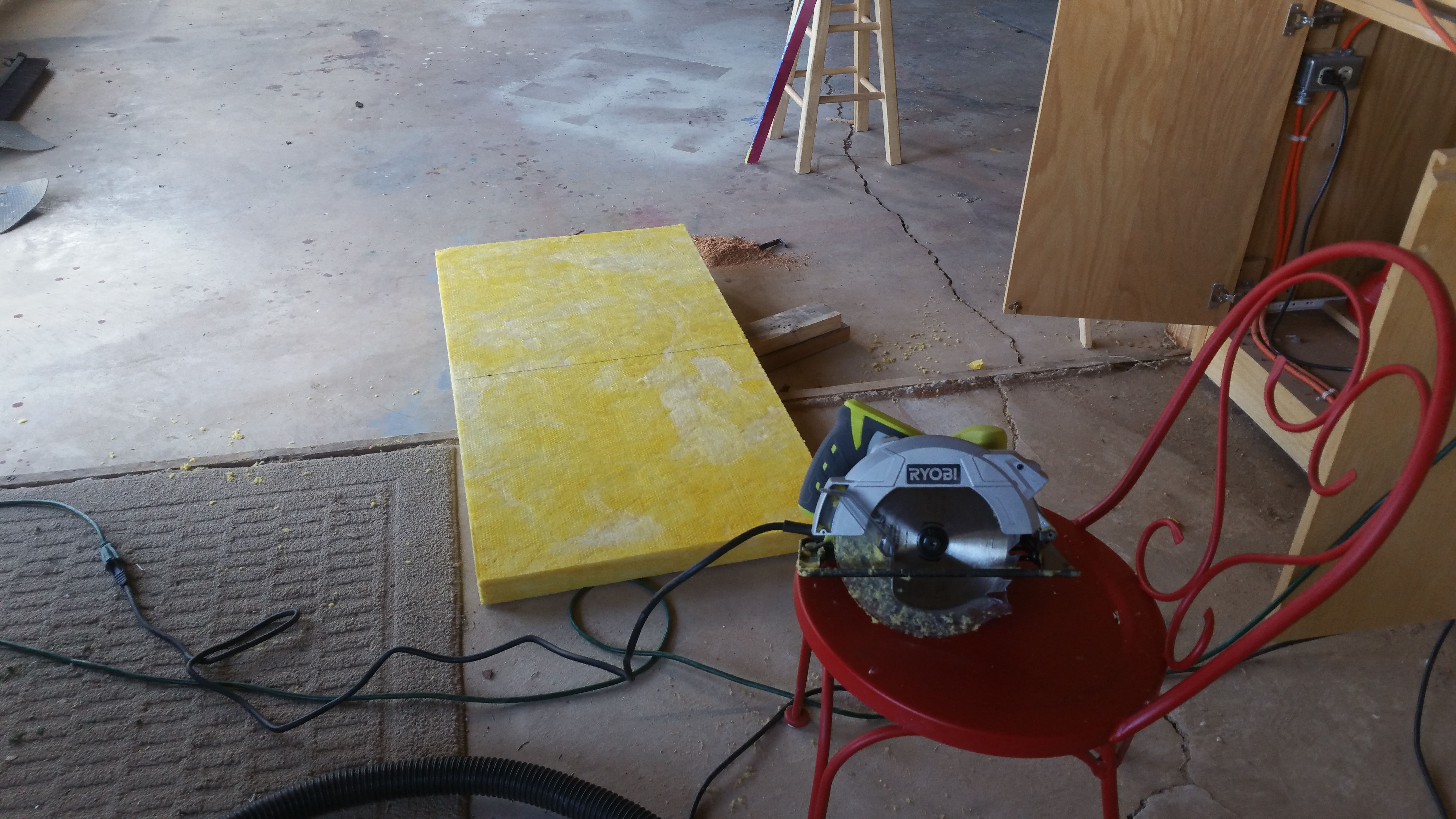 Making acoustic tiles for the music room | My Traveling Family